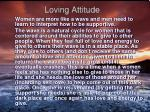 loving attitude