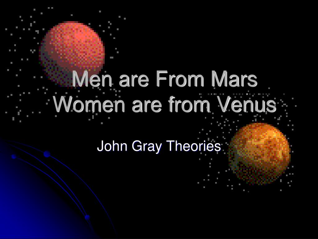 men are from mars women are from venus l.