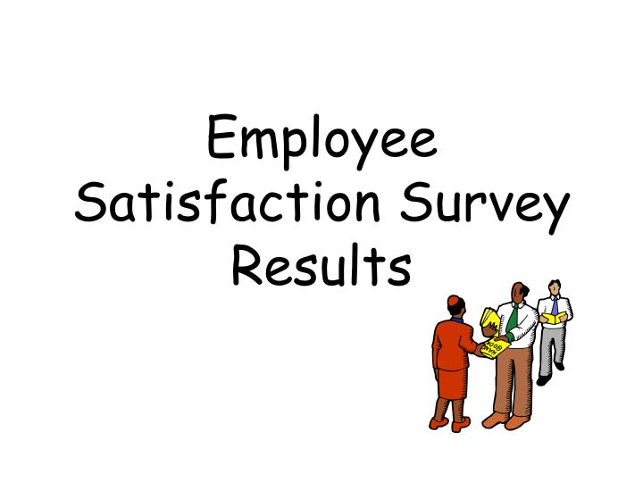 employee satisfaction survey results n.