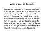 what is your 1 complaint