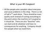 what is your 1 complaint58