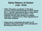 early history of action 1920 wwii7