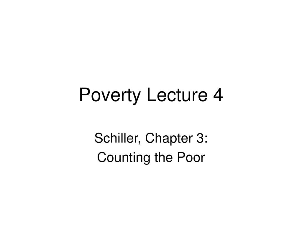 poverty lecture 4 l.