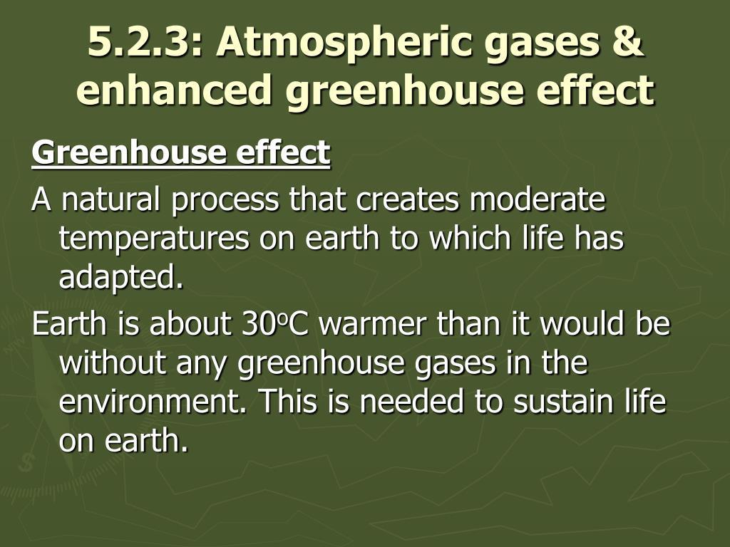 5.2.3: Atmospheric gases & enhanced greenhouse effect