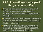 5 2 5 precautionary principle the greenhouse effect