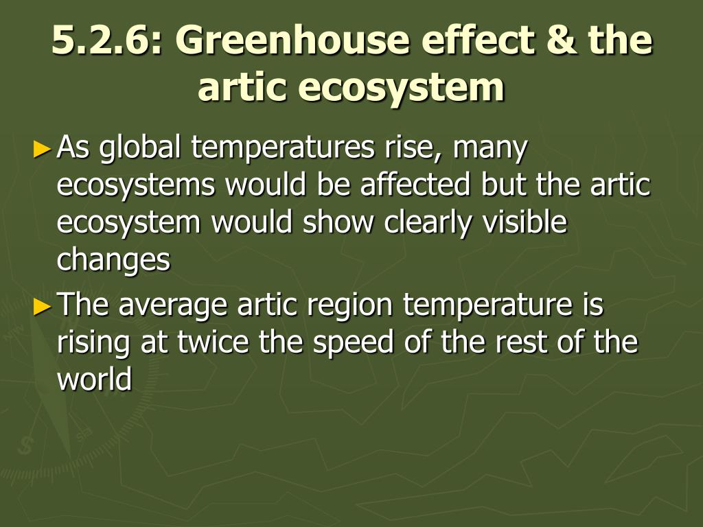 5.2.6: Greenhouse effect & the artic ecosystem