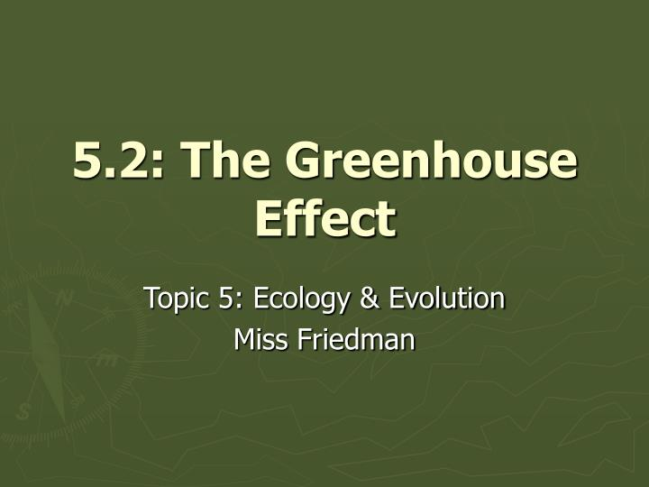 5 2 the greenhouse effect