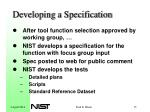 developing a specification