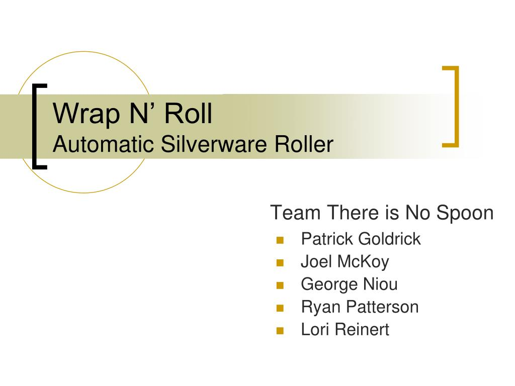 wrap n roll automatic silverware roller l.