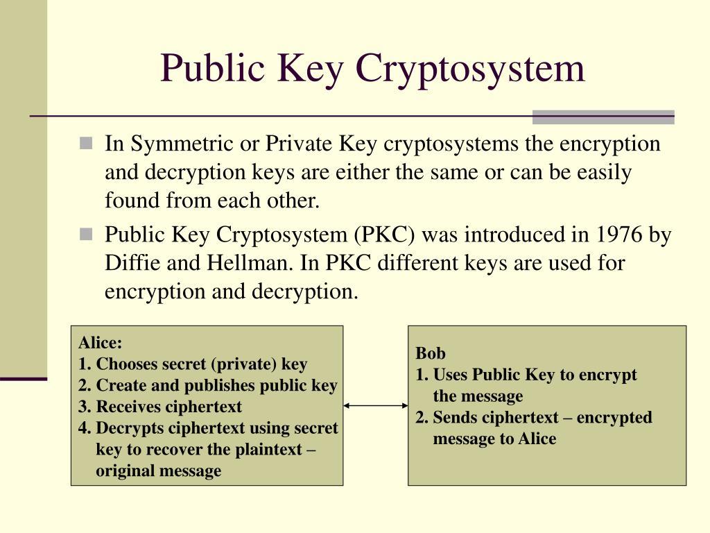 public key cryptosystem l.