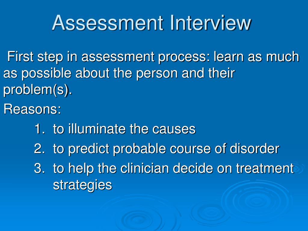 assessment interview l.