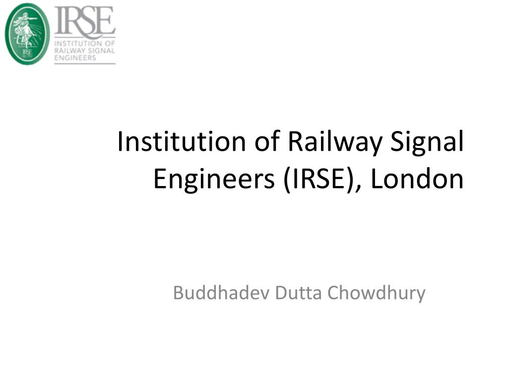 institution of railway signal engineers irse london l.