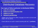 distributed database recovery24