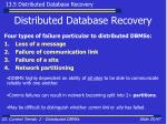 distributed database recovery25