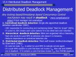 distributed deadlock management21