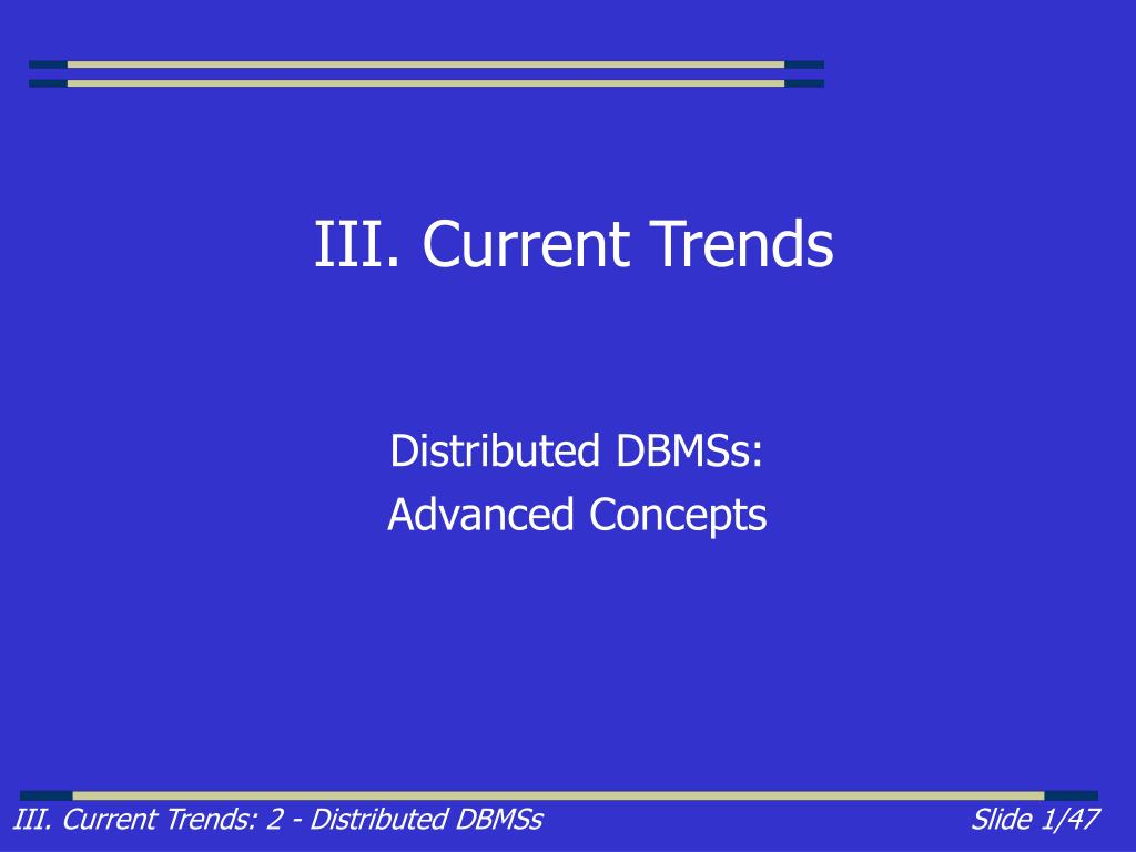 iii current trends l.
