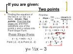 if you are given two points7