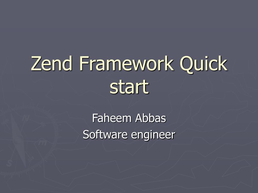 zend framework quick start l.