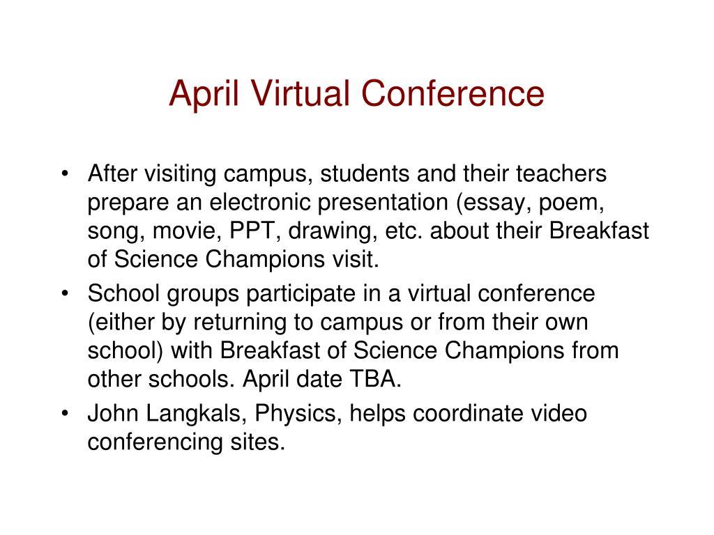 April Virtual Conference