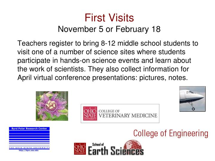 First visits november 5 or february 18