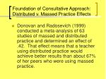 foundation of consultative approach distributed v massed practice effects28