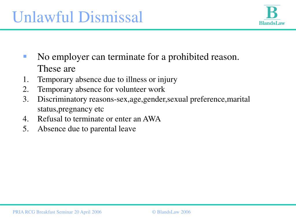 Unlawful Dismissal
