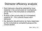 distractor efficiency analysis