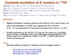 coulomb excitation of k isomers in 178 hf