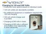 charging at 120 and 240 volts3