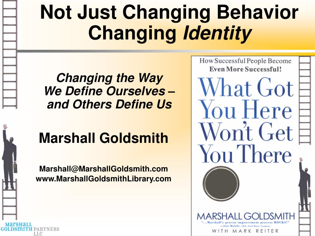 not just changing behavior changing identity l.