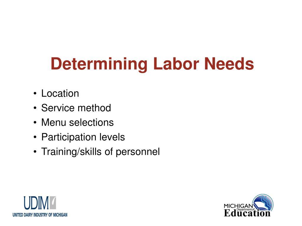 Determining Labor Needs