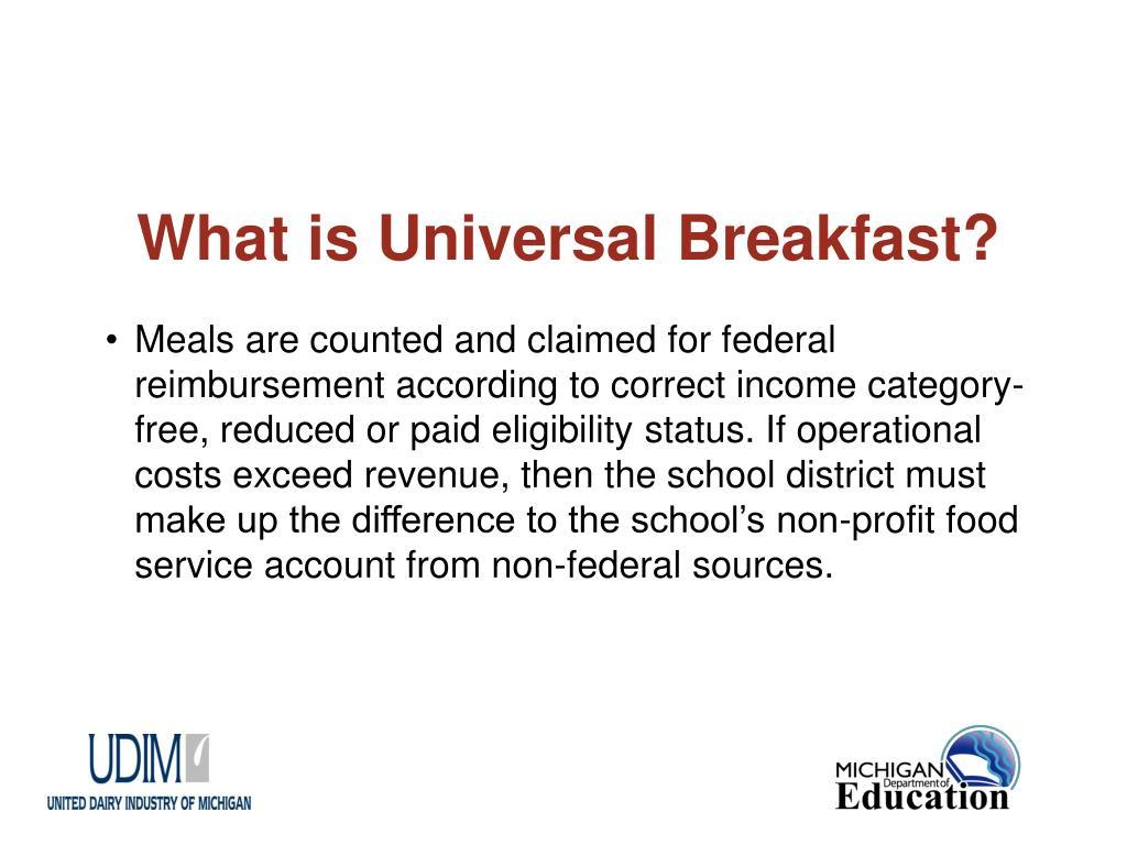 What is Universal Breakfast?