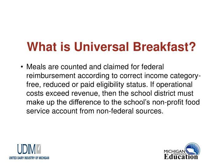 What is universal breakfast3