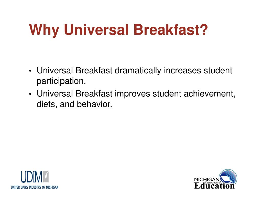 Why Universal Breakfast?