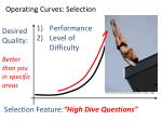 operating curves selection44
