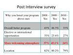 post interview survey