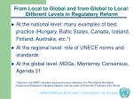 from local to global and from global to local different levels in regulatory reform
