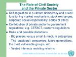 the role of civil society and the private sector