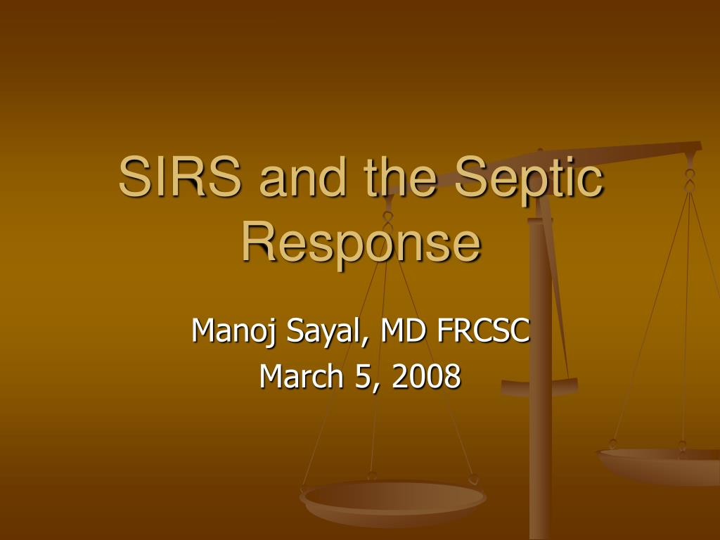 sirs and the septic response l.