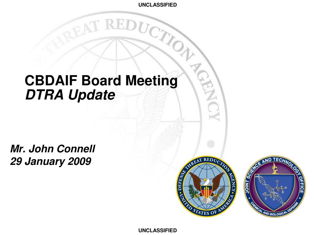 cbdaif board meeting dtra update l.