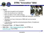 dtra innovation baa