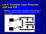 lab 6 transport layer protocols udp and tcp