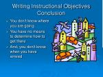 writing instructional objectives conclusion49
