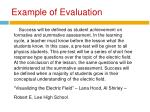 example of evaluation