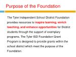 purpose of the foundation