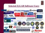 selected zylab software users