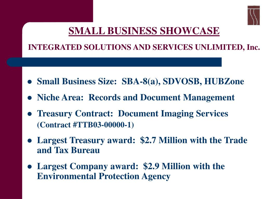 small business showcase integrated solutions and services unlimited inc l.