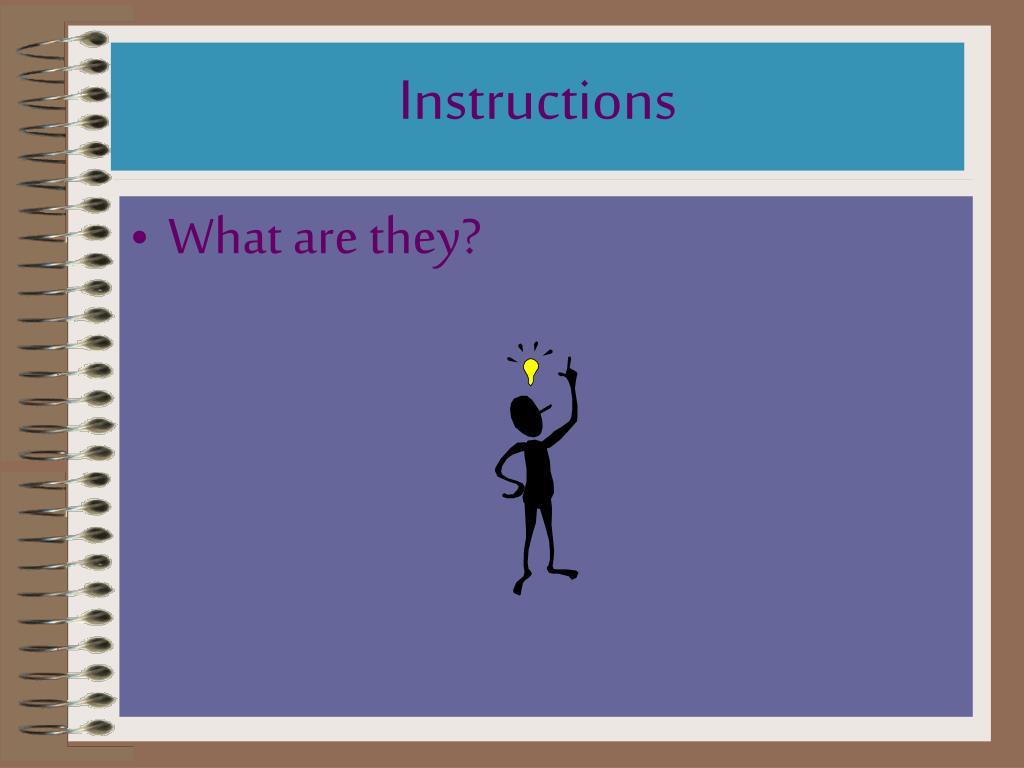 instructions l.