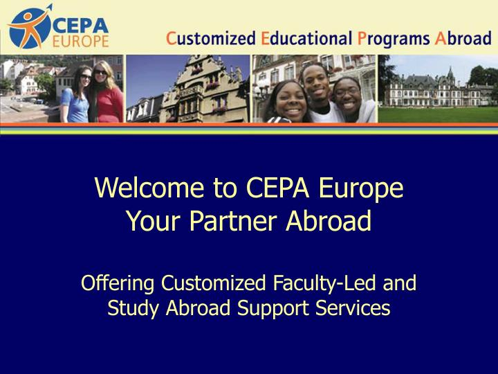 Welcome to CEPA