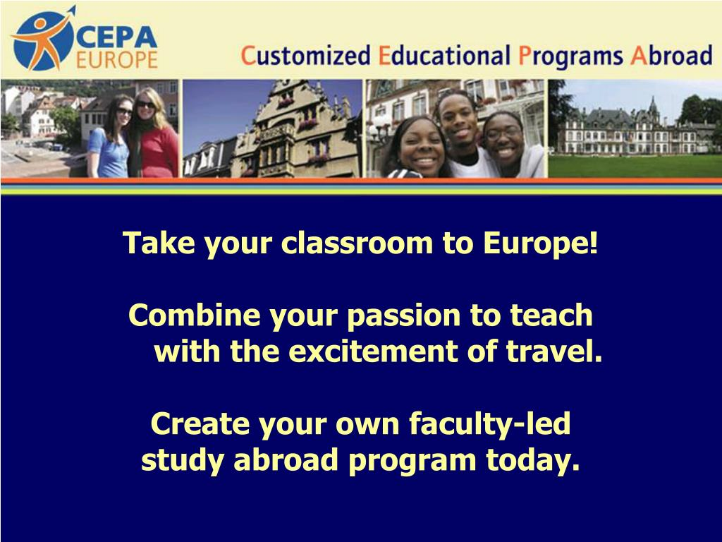 Take your classroom to Europe!